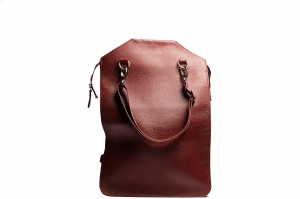 Sejima red unfolded backpack