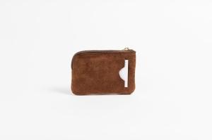 BUKVY mini wallet brown suede back