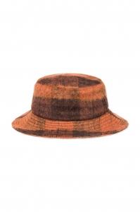 Wool Hat Orange Check