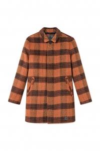 T-Coat Wool Orange Check