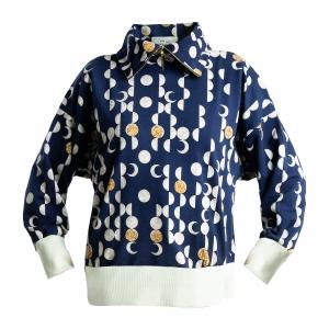 Moon phases Turtleneck sweater