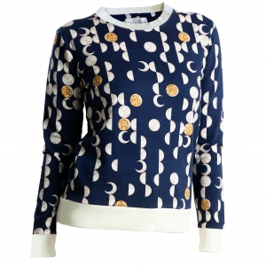 Moon phases sweater