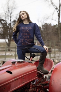"""""""Carpe the hell out of this diem"""" Sweater"""