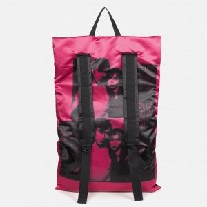 Poster Backpack satin black backside