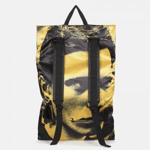 Poster Backpack satin black backside yellow