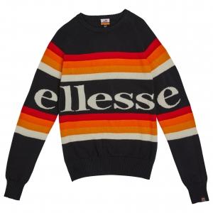 ELLESSE HERITAGE AW19Q4 MENS SHD08102 PONZANO SWEATSHIRT BLACK FLATLAY 1