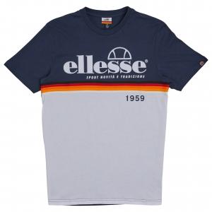 ELLESSE HERITAGE AW19Q4 MENS SHD08104 BRESCIA TSHIRT NAVY FLATLAY 1