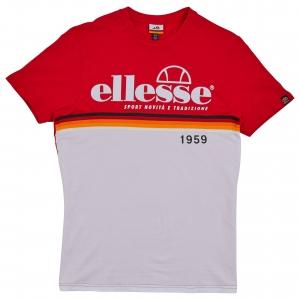 ELLESSE HERITAGE AW19Q4 MENS SHD08104 BRESCIA TSHIRT RED FLATLAY 1