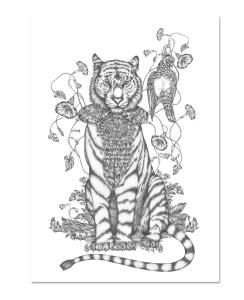 Poster Totem Tiger
