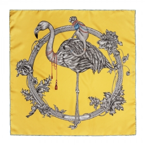 Flamingo Mini Silk Scarf