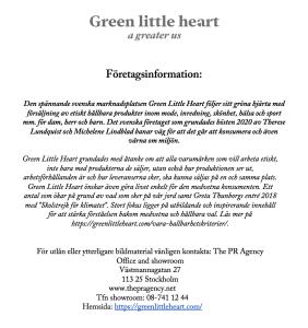 FÖRETAGSINFORMATION - GREEN LITTLE HEART