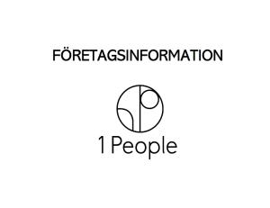Företagsinformation - 1 People