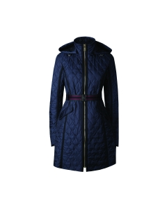 Womens Refined Quilted Trench Coat
