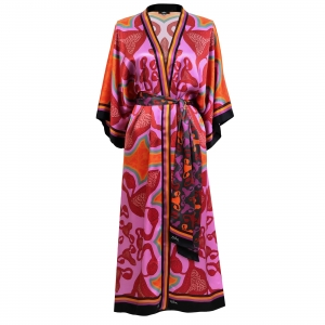 Kimono I am bloody awesome Pink front