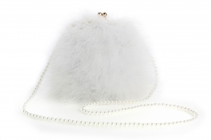Pure White Pearl Bag