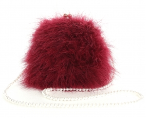 Red Wine Pearl Bag
