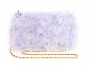 Soft Purple Feather Bag