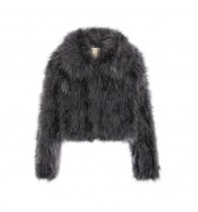 Feather Jacket Collar