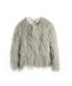 Matte Grey Mongolian Jacket