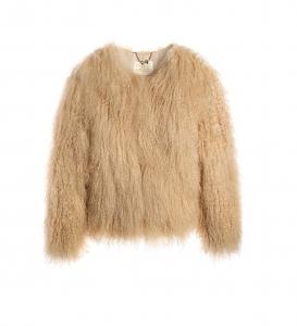Creamy Beige Mongolian Jacket