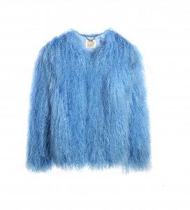 Sky Blue Mongolian Jacket