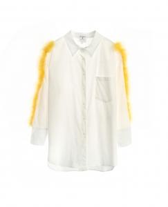 Feather Stripe Oversize Shirt