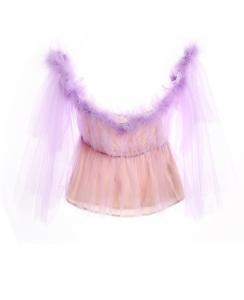 Dreamy Feather Half-Transparent Top