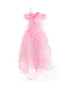 Lorie Pink Feather Dress