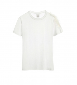 Jessica Feather T-shirt White