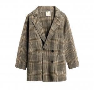 Check oversize coat