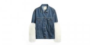 Denim Jacket with Big Cuff