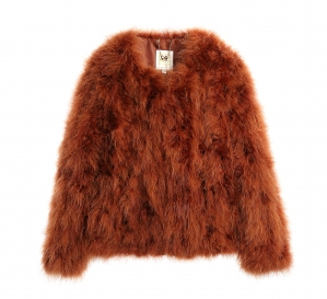 Feather jacket Rusty Red