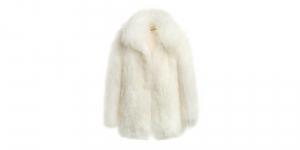 Mongolian collar coat white