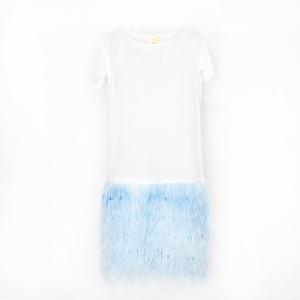PelloBello Blue Feather Dress 1599sek 1230dkk
