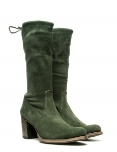 SELENA MID STRETCH SUEDE GREEN
