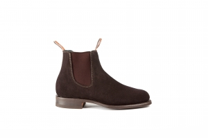 RM Williams Wentworth G Suede Chocolate 2