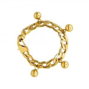 Chainbracelet with bullets, brass